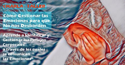 una persona se tapa la cara y a su lado hay unas olas, como simil de las emociones que nos desbordan