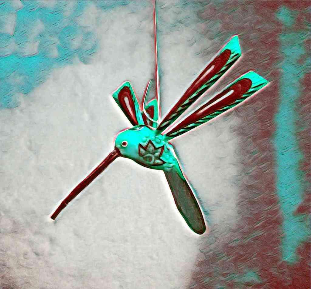 Los pensamientos son tan molestos como el suave aleteo de un colibri