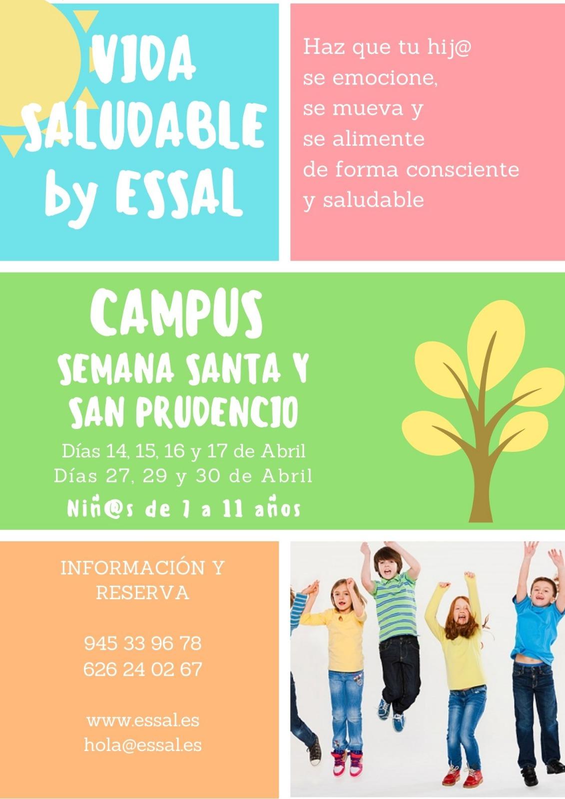 Campus de Semana Santa y San Prudencio en Vitoria para niños de 7 a 11 años
