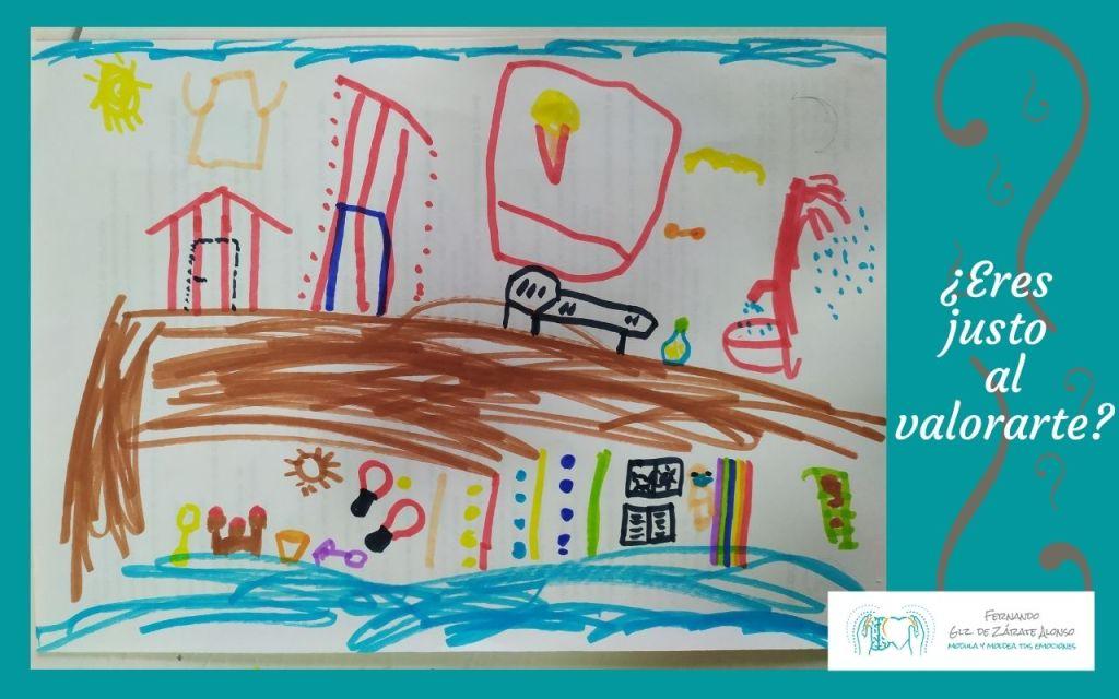 dibujo creado por un padre y su hija en el que no se sabe quién ha pintado cada parte y que reflexiona